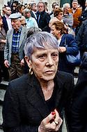 Roma 7  Maggio 2013.Il Funerale di Giulio Andreotti , la bara portata a spalla dalla sua abitazione fino alla chiesa di San Giovanni dei Fiorentini. Marilena Andreotti