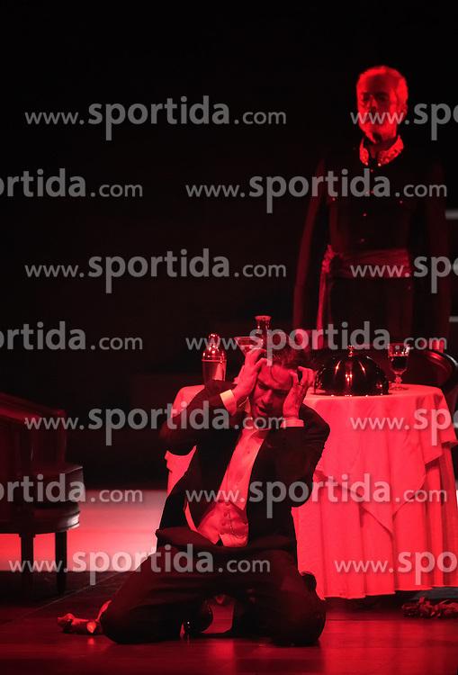29.07.2016, Haus für Mozart, Salzburg, AUT, Salzburger Festspiele, Don Giovanni, im Bild Ildebrando D`Arcangelo als Don Giovanni und Alain Coulombe als Il Commendatore während der Fotoprobe zu Wolfgang Amadeus Mozarts Oper - Don Giovanni // Ildebrando D`Arcangelo als Don Giovanni und  Alain Coulombe als Il Commendatore perform during the rehearsal of  Wolfgang Amadeus Mozarts Don Giovanni'.  The Salzburg festival takes place from 22 July to 31 August 2016, at the Haus für Mozart in Salzburg, Austria on 2016/07/29. EXPA Pictures © 2016, PhotoCredit: EXPA/ Ernst Wukits