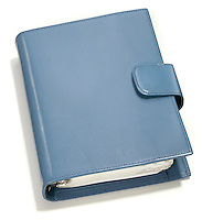 blue leather day planner