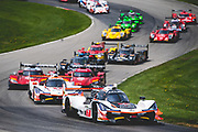 May 4-6 2018: IMSA Weathertech Mid Ohio. Start of the mid ohio sportscar grand prix led by 7 Acura Team Penske, Acura DPi, Helio Castroneves, Ricky Taylor