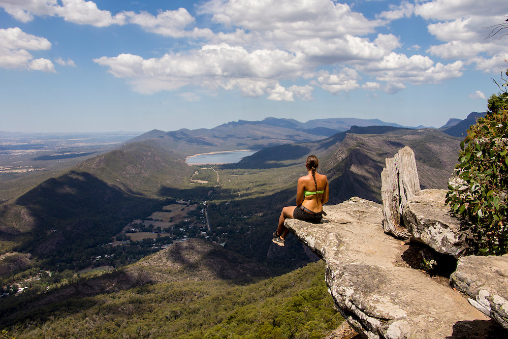 The Boroka Lookout provides amazing views of the Wonderland Range, Mt. William Range, Fyans Valley and Lake Bellfield.  The lookout is located in the Grampians National Park in Victoria, Australia.