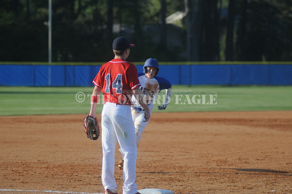 Oxford Middle School vs. South Panola in middle school baseball in Oxford, Miss. on Monday, March 26, 2012.