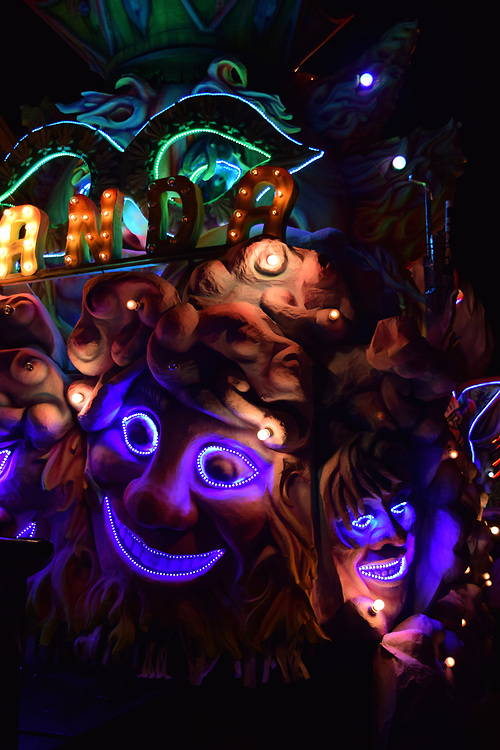 Scary Face on a float at Night