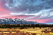 """A pretty evening in Grand Teton Natonal Park. Moments like this are just that """"moments"""", sadly they don't last long; however, that gives greater appreciation of them<br /> <br /> For production prints or stock photos click the Purchase Print/License Photo Button in upper Right; for Fine Art """"Custom Prints"""" contact Daryl - 208-709-3250 or dh@greater-yellowstone.com"""