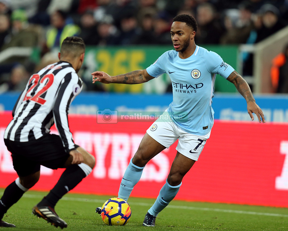 27 December 2017 Newcastle: Premier League Football - Newcastle United v Manchester City : Raheem Sterling of Man City.<br /> (photo by Mark Leech)