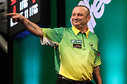Darren Webster during the PDC Darts Players Championship at  at Butlins Minehead, Minehead, United Kingdom on 24 November 2017. Photo by Shane Healey.
