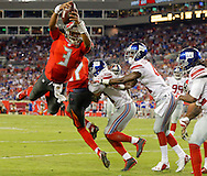 TAMPA, FL - NOVEMBER 8: Quarterback Jameis Winston #3 of the Tampa Bay Buccaneers during the game against the New York Giants at Raymond James Stadium on November 8, 2015, in Tampa, Florida. The Buccaneers lost 32-18. (photo by Mike Carlson/Tampa Bay Buccaneers)