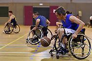 08/12/15 - CLERMONT FERRAND - PUY DE DOME - FRANCE - Entrainement handisport de basket ball au club de Clermont Ferrand - Photo Jerome CHABANNE
