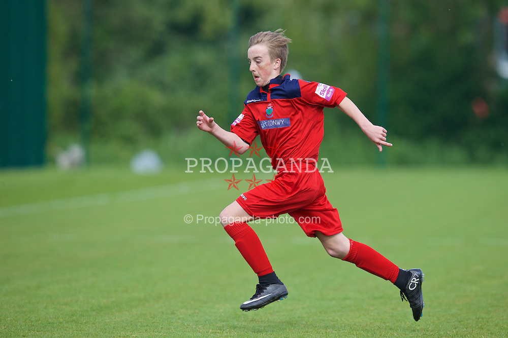 NEWPORT, WALES - Wednesday, May 27, 2015: North WPL Academy Boys' Levon Hughes during the Welsh Football Trust Cymru Cup 2015 at Dragon Park. (Pic by David Rawcliffe/Propaganda)