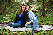 Beckie Mustille and Jason Durling pose for their engagement portraits at Heritage Grove County Park in La Honda, California, on March 9, 2014. (Stan Olszewski/SOSKIphoto)<br />