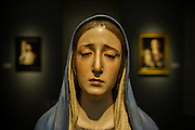 The Virgin of Solitude (1660's)  in the Caylus Gallery - Frieze Masters 2014 - including a huge range of works from religious relics, through old masters to contemporary art with prices upto millions of pounds. Regents Park, London, 14 Oct 2014.