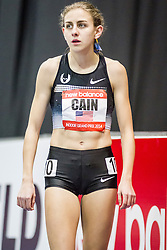 New Balance Indoor Grand Prix Track, womens 1000 meters, Mary Cain warmup