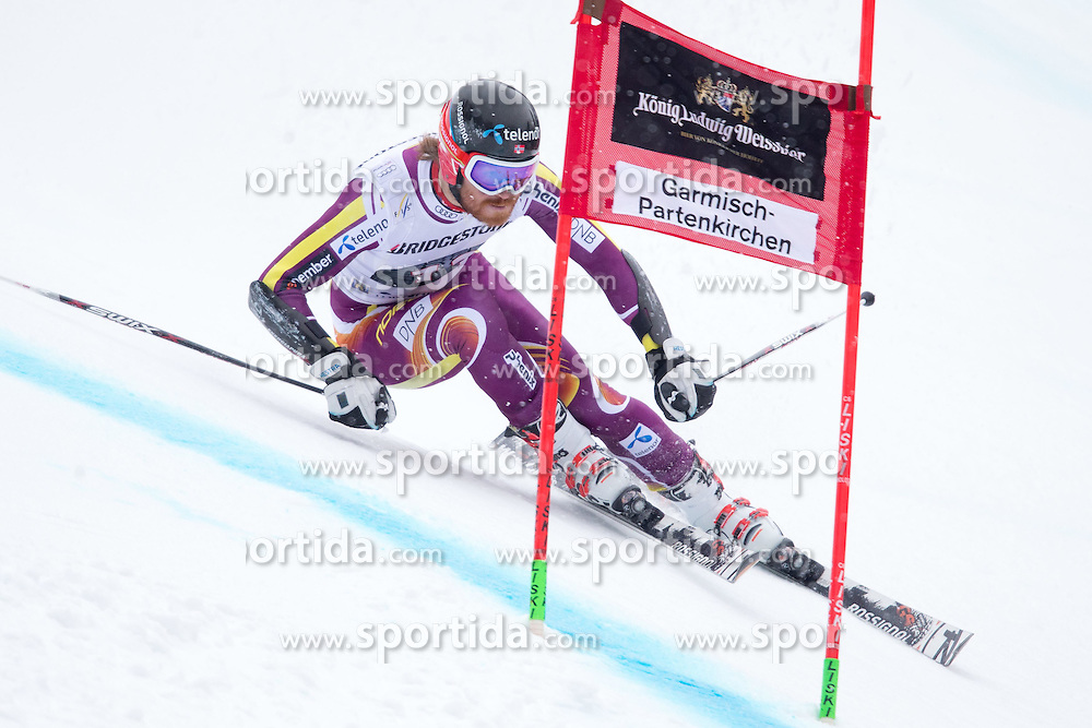 01.03.2015, Kandahar, Garmisch Partenkirchen, GER, FIS Weltcup Ski Alpin, Riesenslalom, Herren, 1. Lauf, im Bild Leif Kristian Haugen (NOR) // Leif Kristian Haugen of Norway in action during 1st run for the men's Giant Slalom of the FIS Ski Alpine World Cup at the Kandahar course, Garmisch Partenkirchen, Germany on 2015/03/01. EXPA Pictures © 2015, PhotoCredit: EXPA/ Johann Groder