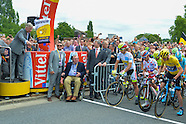 King Philippe gives the start of the Tour de France stage in Seraing