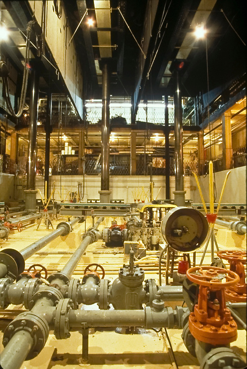 Hydraulic system underneath the stage at Radio City Music Hall, NYC.