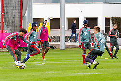 14.03.2019, Säbener Strasse, Muenchen, GER, 1. FBL, FC Bayern Muenchen vs 1. FSV Mainz 05, Training, im Bild v.l. Wooyeong Jeong (FC Bayern), Renato Sanches (FC Bayern), Kingsley Coman (FC Bayern), Christian Früchtl (FC Bayern) // during a trainings session before the German Bundesliga 26th round match between FC Bayern Muenchen and 1. FSV Mainz 05 at the Säbener Strasse in Muenchen, Germany on 2019/03/14. EXPA Pictures © 2019, PhotoCredit: EXPA/ Lukas Huter