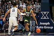Jalen Pickett (22) of Siena bring the ball up court against Bryce Moore (11) of Xavier during an NCAA college basketball game, Friday, Nov. 8, 2019, at the Cintas Center in Cincinnati, OH. Xavier defeated Siena 81-63. (Jason Whitman/Image of Sport)