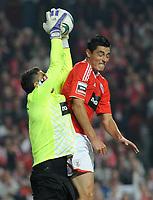 20111126: LISBON, PORTUGAL - SL Benfica vs Sporting  match for Portuguese League 2011/2012. In picture: Rui Patricio and Cardozo. PHOTO: Alvaro Isidoro/CITYFILES