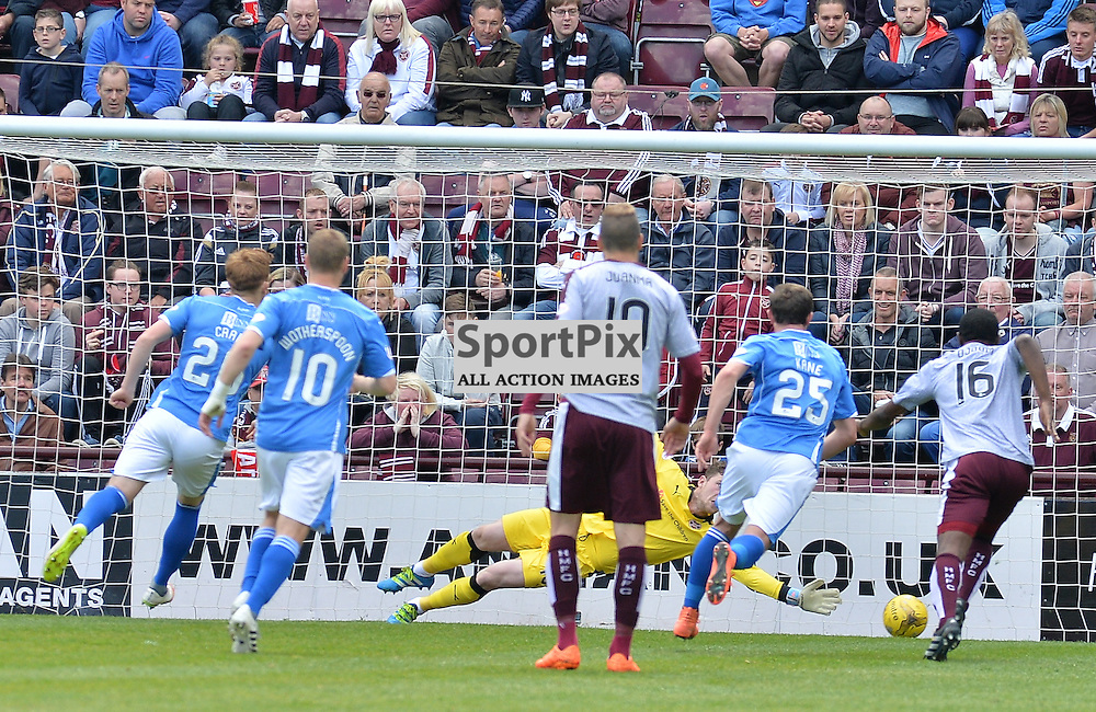 Liam Craig (St Johnstone) scores from the penalty spot.<br /> <br /> (c) DAVE JOHNSTON | SportPix