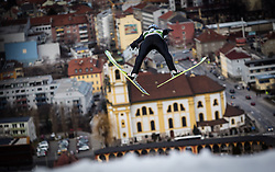 03.01.2014, Bergisel Schanze, Innsbruck, AUT, FIS Ski Sprung Weltcup, 62. Vierschanzentournee, Training, im Bild Thomas Morgenstern (AUT) // Thomas Morgenstern (AUT) during practice Jump of 62nd Four Hills Tournament of FIS Ski Jumping World Cup at the Bergisel Schanze, Innsbruck, <br /> Austria on 2014/01/03. EXPA Pictures © 2014, PhotoCredit: EXPA/ JFK
