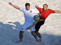 FIFA BEACH SOCCER WORLD CUP 2008 PORTUGAL - SPAIN  27.07.2008 Beirao SOUSA (POR, l) against NICO (ESP).