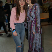 Singer Aleya Mae (R) with her sister preforms at X-Factor's Sam Lavery to Switch on Christmas Lights at Stratford Centre inside Stratford Shopping Centre, 26th November 2016, London,UK. Photo by See Li