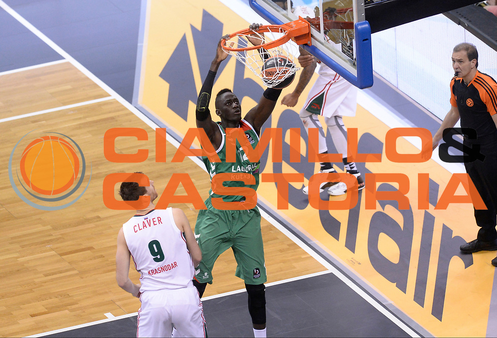 BERLINO 15 MAGGIO 2016<br /> BASKET EUROLEAGUE FINAL FOUR<br /> LABORAL KUTXA VITORIA - LOKOMOTIV KUBAN KRASNODAR<br /> NELLA FOTO ILIMANE DIOP<br /> FOTO CIAMILLO