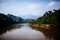 The Red River in northern Vietnam, outside of Lao Cai Province. Vietnam's Red River cuts from China to the Gulf of Tonkin in northern Vietnam.