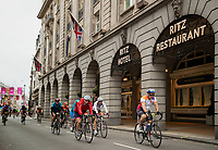The riders cycle past The Ritz during The Prudential RideLondon Sportives. Sunday 29th July 2018<br /> <br /> Photo: Ben Queenborough for Prudential RideLondon<br /> <br /> Prudential RideLondon is the world's greatest festival of cycling, involving 100,000+ cyclists - from Olympic champions to a free family fun ride - riding in events over closed roads in London and Surrey over the weekend of 28th and 29th July 2018<br /> <br /> See www.PrudentialRideLondon.co.uk for more.<br /> <br /> For further information: media@londonmarathonevents.co.uk