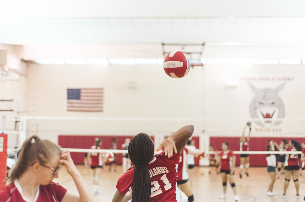Woodlands Academy High School, Lake Forest, IL 2017 Volleyball Photography by Chicago Sports Photographer Chris W. Pestel