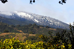 A storm front moved into the Salinas Valley area over the course of Thursday night, leaving snow at these high elevations near Gonzales River Road.