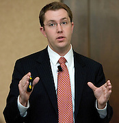 Hunter Arnold, Vice President of Sales for CareerBuilder.com, speaks during The Ralph and Luci Schey Sales Centre's 10th Annual Sales Symposium at O.U. on Friday, 4/20/07.