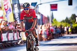 Jan Tratnik at finish line of Slovenian Road Cyling Championship 2019 on June 30, 2019 in Radovljica, Slovenia. Photo by Peter Podobnik / Sportida.