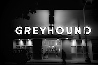 Greyhound Bus Terminal on slow Sunday night in Oakland, CA.  Copyright 2010 Reid McNally.