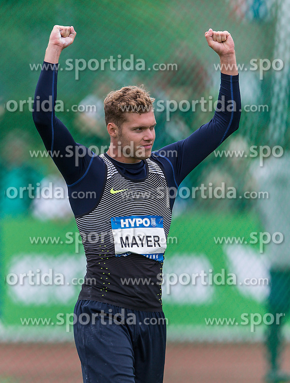 29.05.2016, Moeslestadion, Goetzis, AUT, 42. Hypo Meeting Goetzis 2016, Zehnkampf der Herren, Diskus, im Bild Kevin Mayer (FRA) // Kevin Mayer of France during the discus throw event of the Decathlon competition at the 42th Hypo Meeting at the Moeslestadion in Goetzis, Austria on 2016/05/29. EXPA Pictures © 2016, PhotoCredit: EXPA/ Peter Rinderer