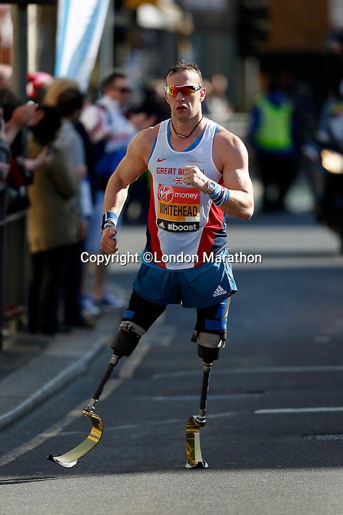 Richard Whitehead UK IPC Race<br /> The Virgin Money London Marathon 2014<br /> 13 April 2014<br /> Photo: Jed Leicester/Virgin Money London Marathon<br /> media@london-marathon.co.uk