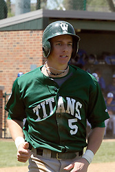 11 May 2013:  Tim Coonan during an NCAA division 3 College Conference of Illinois and Wisconsin (CCIW) Pay in Baseball game during the Conference Championship series between the North Park Vikings and the Illinois Wesleyan Titans at Jack Horenberger Stadium, Bloomington IL