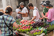 A fruit vendor in Suzhou, China.
