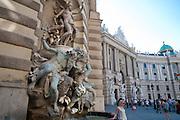 Brunnen, Michaelerplatz, Hofburg, Wien, Österreich.|.fountain, Michaelerplatz, Hofburg, Vienna, Austria