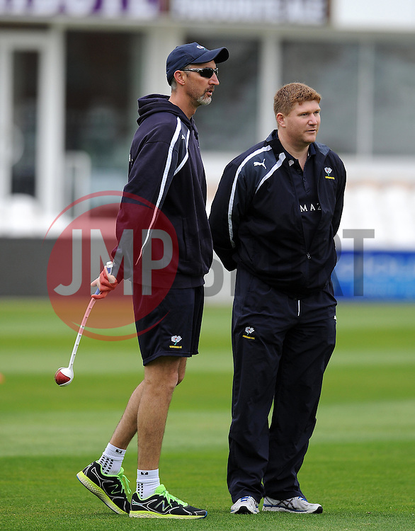 Yorkshire's Head Coach Jason Gillespie. Photo mandatory by-line: Harry Trump/JMP - Mobile: 07966 386802 - 24/05/15 - SPORT - CRICKET - LVCC County Championship - Division 1 - Day 1- Somerset v Sussex Sharks - The County Ground, Taunton, England.
