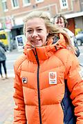 Officiele huldiging van de Olympische en Paralympische medaillewinnaars in de Grote Kerk of St. Jacobskerk, Den Haag.<br /> <br /> op de foto:  Esmee Visser