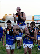 WAFL Elimination Final - Peel Thunder v East Perth Royals at Bendigo Bank Stadium, Mandurah. Photo by Daniel Wilkins. PICTURED- East Perth players chair off retiring club champion Craig Wulff