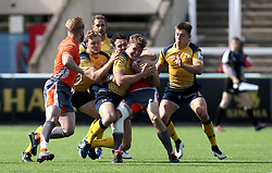 Ted Hill of Worcester Warriors tries to get through a tackle - Mandatory by-line: Robbie Stephenson/JMP - 30/07/2016 - RUGBY - Kingston Park - Newcastle, England - Worcester Warriors v Newcastle Falcons - Singha Premiership 7s