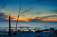 Last light as the sun dips in into the Gulf of Mexico on Cape San Blas.