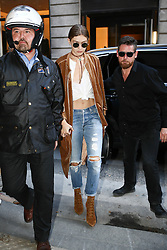 Gigi Hadid arriving at Isabel Marant show in Paris, France on september 29, 2016. Photo by ABACAPRESS.COM