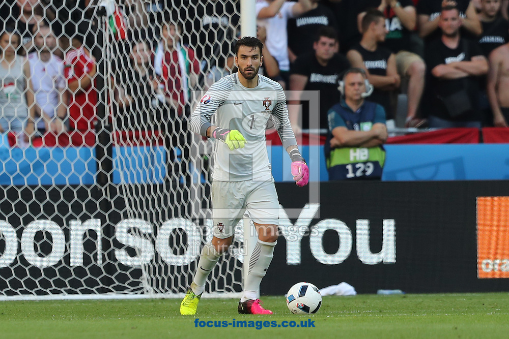 Rui Patricio of Portugal during the UEFA Euro 2016 match at Stade de Lyons, Lyons<br /> Picture by Paul Chesterton/Focus Images Ltd +44 7904 640267<br /> 22/06/2016