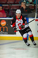 KELOWNA, BC - NOVEMBER 1: Filip Koffer #23 of the Prince George Cougars warms up against the Kelowna Rockets  at Prospera Place on November 1, 2019 in Kelowna, Canada. (Photo by Marissa Baecker/Shoot the Breeze)