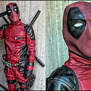 Cosplayer in his Deadpool costume at the New York Comic Con.<br />