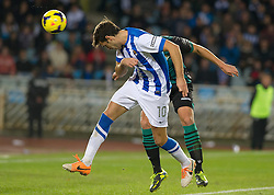 15.12.2013, Anoeta Stadium, San Sebastian, ESP, Primera Division, Real Sociedad vs Real Betis, 16. Runde, im Bild Real Sociedad's Xabi Prieto // Real Sociedad's Xabi Prieto during the Spanish Primera Division 16th round match between Real Sociedad and Real Betis at the Anoeta Stadium in San Sebastian, Spain on 2013/12/15. EXPA Pictures © 2013, PhotoCredit: EXPA/ Alterphotos/ Mikel<br /> <br /> *****ATTENTION - OUT of ESP, SUI*****