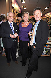 Left to right, DR DAVID STARKEY, KATE AIDIE and MICHAEL PALIN at the Foyles Bookshop Summer Party at their store in Charing Cross Road, London on 3rd September 2008.<br /> <br /> NON EXCLUSIVE - WORLD RIGHTS